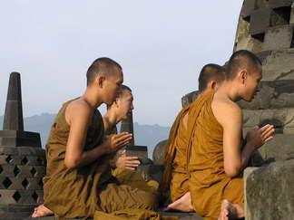 Нельзя дотрагиваться до головы монахов