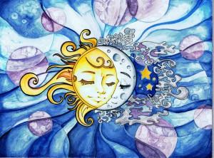 Поменять Луну и Солнце местами