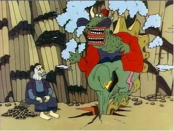 Кадр из мультфильма Ух ты, говорящая рыба!, 1983 год (01)