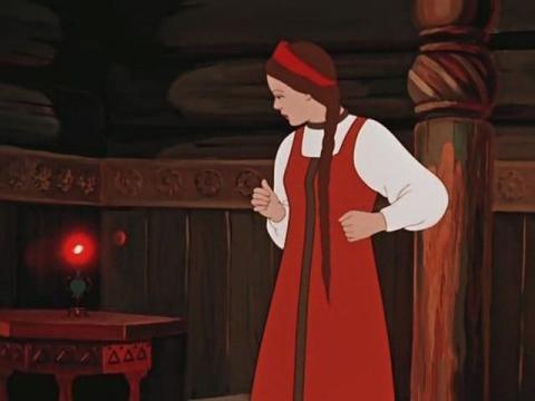 Кадр из мультфильма Аленький цветочек, 1952 год (01)