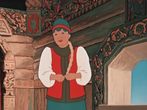 Кадр из мультфильма Аленький цветочек, 1952 год (02)