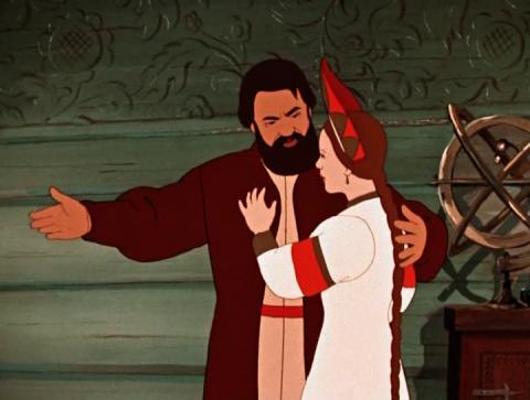 Кадр из мультфильма Аленький цветочек, 1952 год (04)