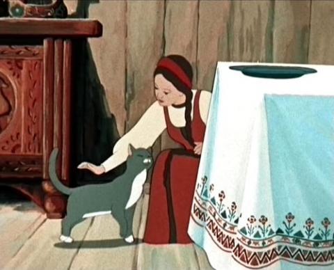 Кадр из мультфильма Аленький цветочек, 1952 год (05)