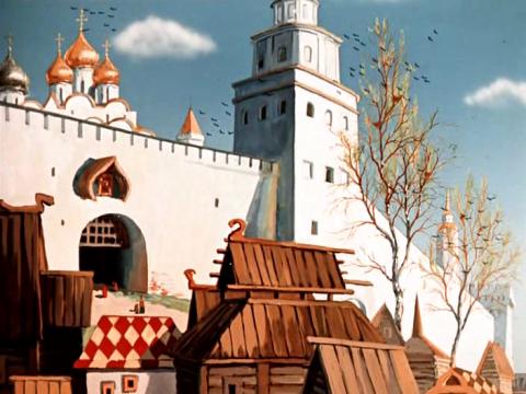 Кадр из мультфильма Аленький цветочек, 1952 год (08)