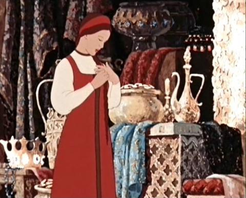 Кадр из мультфильма Аленький цветочек, 1952 год (09)