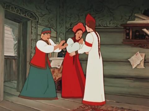 Кадр из мультфильма Аленький цветочек, 1952 год (10)